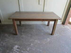 Details about Reclaimed wood Dining or Kitchen Table custom  made,country,shabby chic,vintage