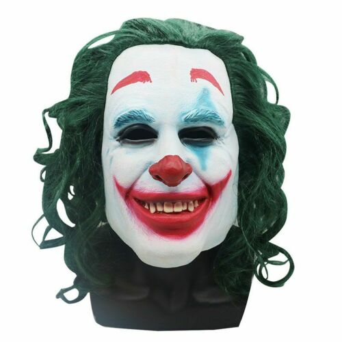 PARTY 2019 FANCY DRESS COSTUME MENS CLOWN FILM OUTFIT COOL SCARY JOKER SUIT MASK