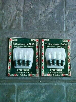 Pifco 7851 Replacement christmas light Bulbs 1.5v 0.3 watt 4 bulbs