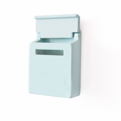 Miniature Blue Mailbox With Decal For 1//12 Dollhouse Outdoor Garden Decor