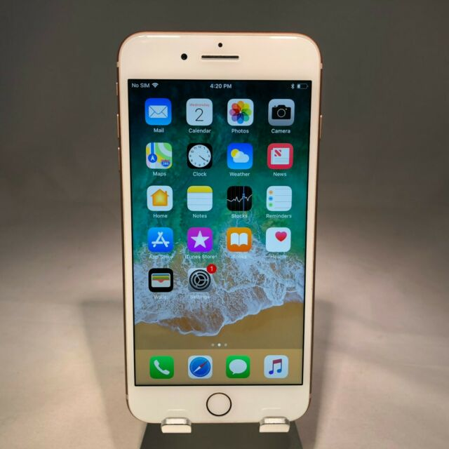 Apple iPhone 8 Plus 64GB Gold Verizon Unlocked Cracked Back Glass
