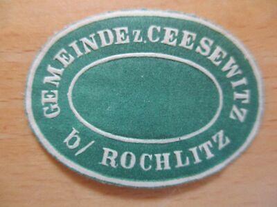 Rochlitz Bequem Zu Kochen 21019 Ceesewitz B Gemeinde Z Siegelmarke