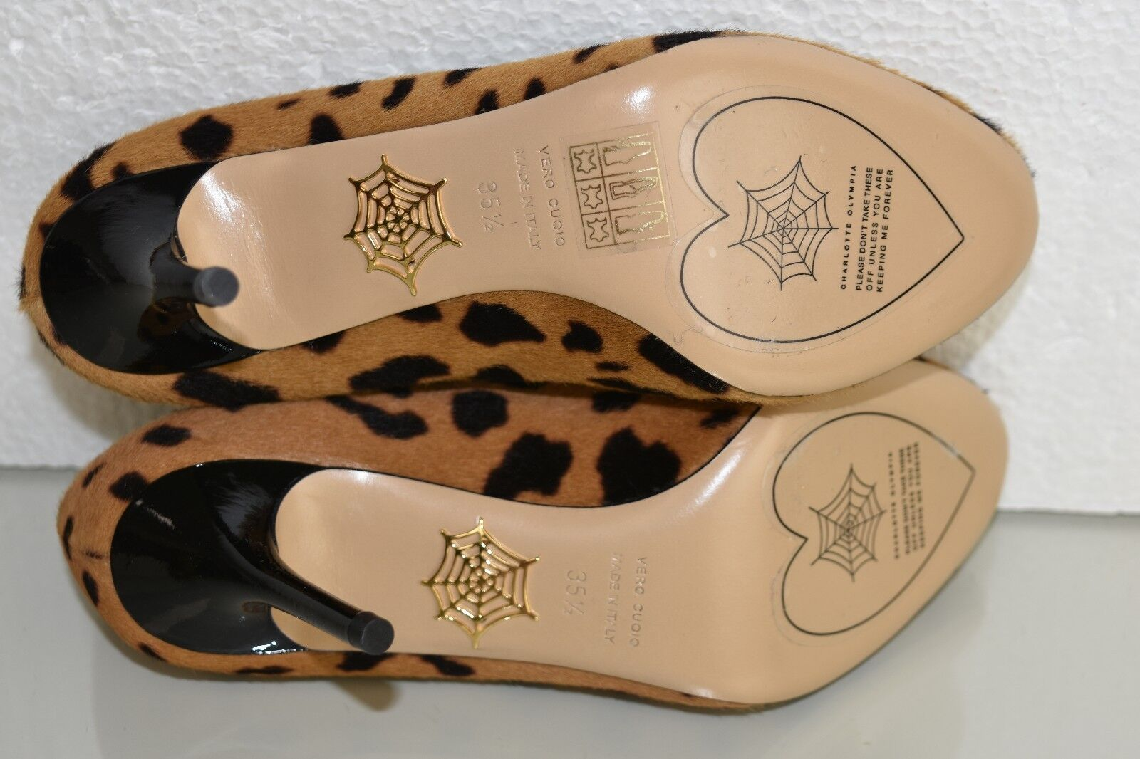 895 New Pumps Charlotte Olympia KITTY 85 HYENA Pony Pumps New Heels Leopard schuhe 35.5 912acb