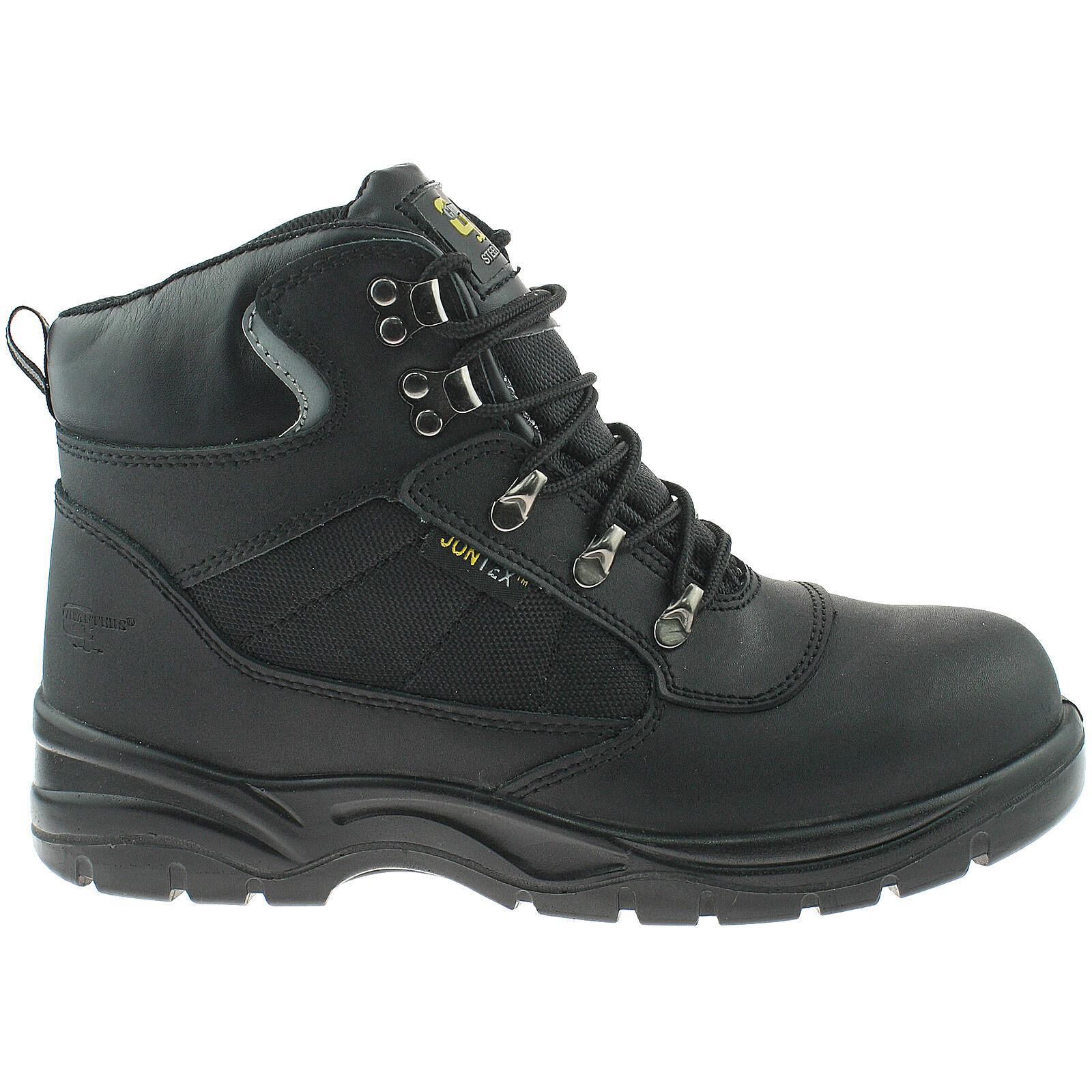 Grafters UK Leder Sicherheit Stiefel Größe UK Grafters 3 - 14 Wasserdicht Stahlkappe Schwarz 2da9fa