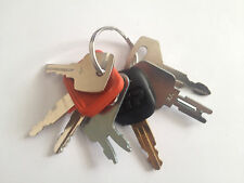 7 Keys Heavy Construction Equipment Key Set New