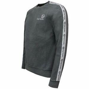 Sergio-Tacchini-Mens-Delman-Sweatshirt-Taped-Casual-Jumper-Grey-038358-924