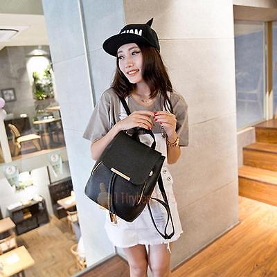 Frauen Mädchen Damen Rucksack Mode Umhängetasche Rucksack PU Leder Reisetasche
