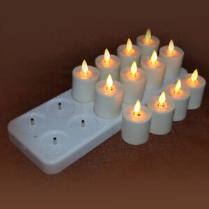 Luminara Tea Light Moving Wick Led Ivory Candles