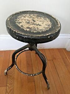 Vintage-Antique-adjustable-Drafting-Medical-Stool-Steel-Chair-Steam-Punk