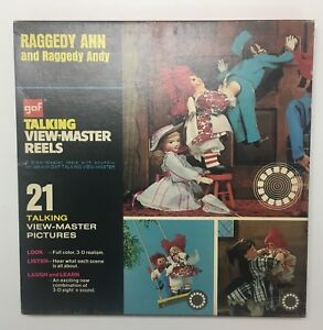 Raggedy-Ann-and-Raggedy-Andy-GAF-Talking-View-Master-Reels-No-Booklet-AVB406