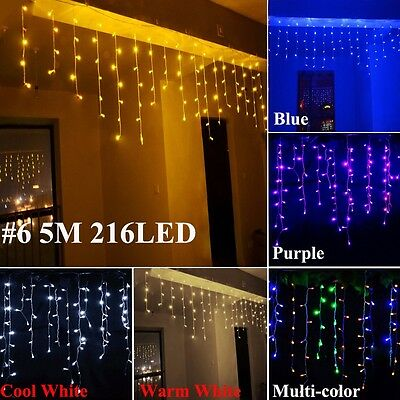 Snowing LED String Fairy Lights Net Mesh Curtain Xmas Wedding Party In/Outdoors