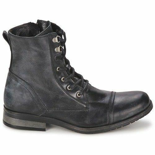 Para Hombre botas De Combate Militar Estilo Cuero Hecho a mano ropa formal al Tobillo Zapatos informales