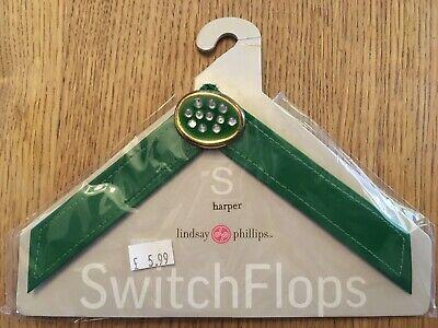Prezzo Più Basso Con Lindsay Phillips Switch Flops Cinturino Harper Brevetto Verde Taglia S Uk 2,3-mostra Il Titolo Originale