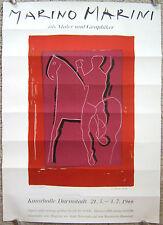 MARINO MARINI - German Exhibition Poster - Ausstellungsplakat 1966 - Darmstadt