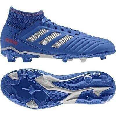 Scarpe calcio bimbo fisse Adidas PREDATOR 19.3 FG J CM8533 Bluette argento rosso   eBay