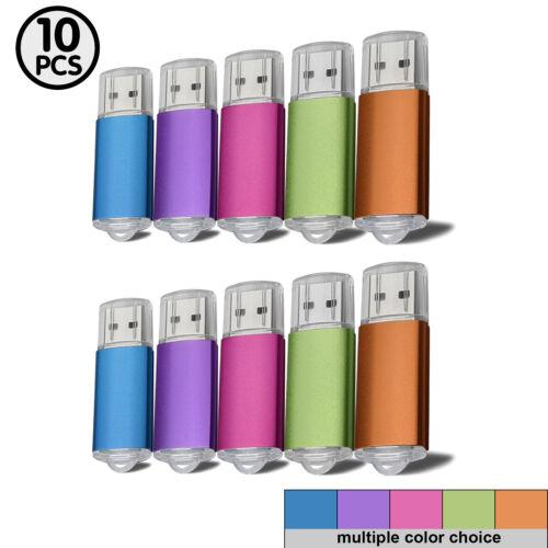 Lot10 USB2.0 8GB Flash Drive Memory Stick Storage Thumbdrive Pendrive Mixcolor