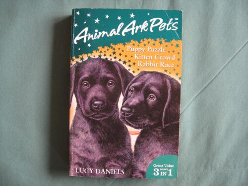 1 of 1 - Animal Ark Pets 3 In 1 Puppy Puzzle 1 Kitten Crowd 2 Rabbit Race 3 Lucy Daniels