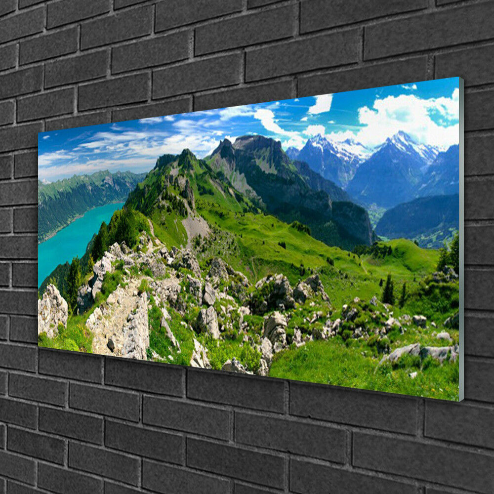 Print on Glass Wall art 100x50 Picture Image Mountains Mountains Mountains Nature fe0f17
