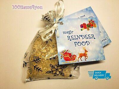 Magic Reindeer Food bag Christmas Eve Kids Activity Tradition Santa Dust oats