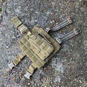 British Army Surplus Issue Blackhawk Coyote Tan Holster & MOLLE Strike Platform