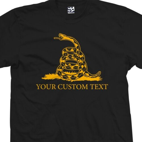 Personalized Dont Tread on Me USA Flag All Colors Custom Gadsden Snake T-Shirt