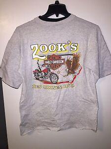 Vintage 1991 Zooks HARLEY-DAVIDSON DES MOINES SHIRT Size Large 90s