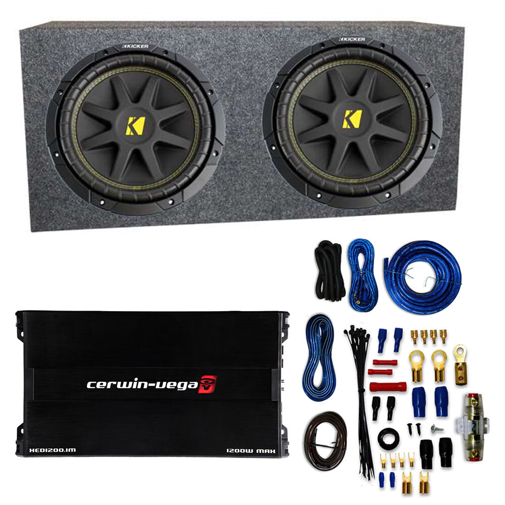 Kicker 10c124 1000 Watt 12 U0026quot  Subwoofers  Pair   Box