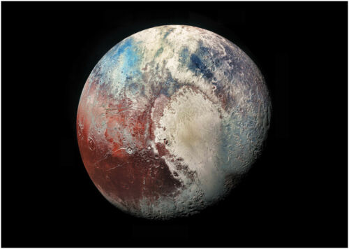 A0 A1 A2 A3 Maxi Planet Pluto Space Large Poster Wall Art Print