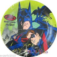 Batman And Robin Small Paper Plates (8) Vintage Birthday Party Supplies Cake
