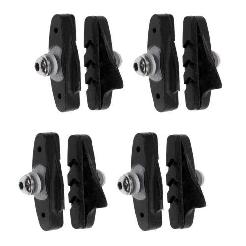 8 stück Fahrrad Rennrad Fahrradbremse Bremsgummi Schwarz Pads Blocks //