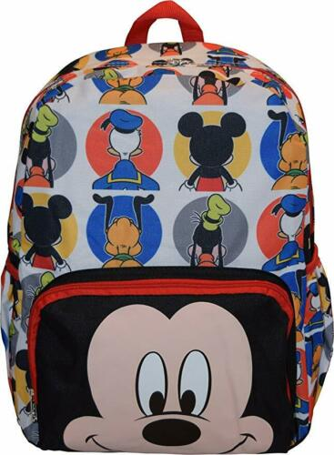 16in Licensed Mickey Mouse Happy Face 3D Black Large School Backpack
