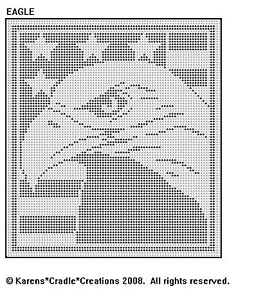 Details about EAGLE Filet Crochet Pattern