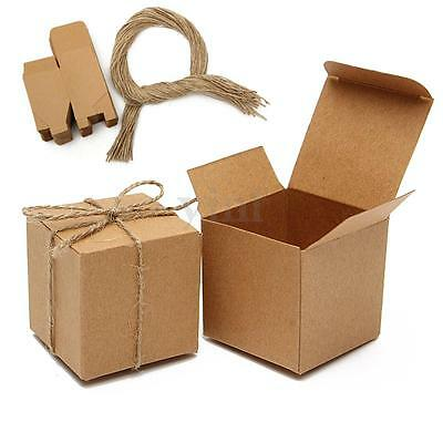 50Pcs Vintage Kraft Paper Brown Laser Cut Candy Boxes Gift Wedding Party Favour