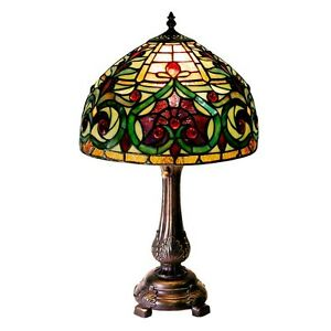 Tiffany style decorative jeweled table lamp elegant for - Elegant table lamps for living room ...
