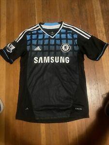 Details about Adidas Chelsea Soccer Jersey Mens Small Black/Blue Moncayo