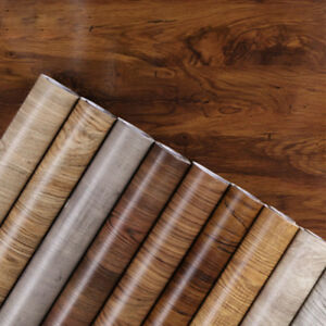 Details About 1m Pvc Waterproof Self Adhesive Wallpaper Furniture Cabinet Wood Grain Sticker