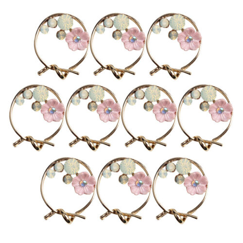 10x Pink Shell Flower Charms Pendants Jewelry Making Findings for DIY Craft