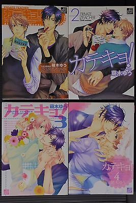 JAPAN Yuu Moegi Yaoi,Boy's Love manga: Katekyo! / Private Teacher 1~4 Complete