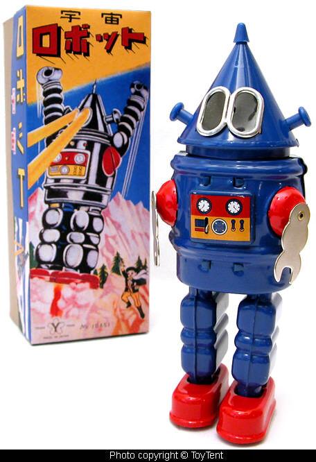 Tetsujin Conehead robot new sparking wind-up + custom made original graphics box