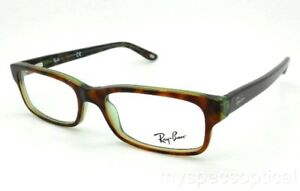 bc42bd89092 Details about New RB Ray Ban 5187 2445 52mm Havana Green Authentic Frames