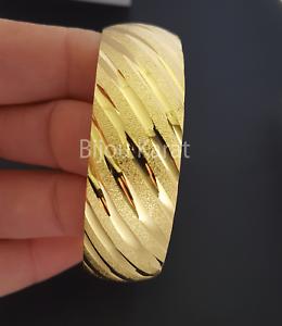 Bombey Bilezik Gold Armreif Armreifen Vergoldet 22 Ayar Altin Kaplama 20mm