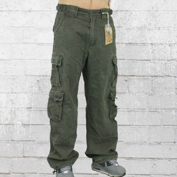 100% Verdadero Jet Lag Hombres Pantalones Cargo 007 Verde Oliva Pantalones Cargo Caballeros Pants Jetlag Mens Pants Verde Oliva-ver