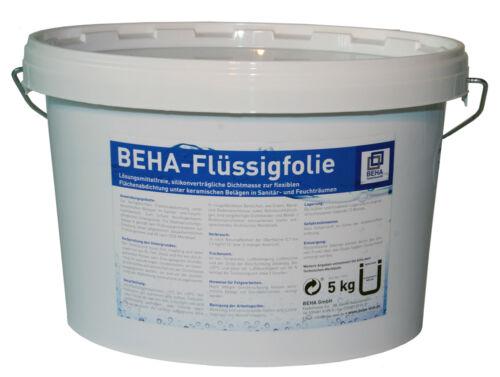 BEHA Flüssigfolie für ca.5m² Dichtfolie flüssig 5kg Abdichtung für Feuchträume