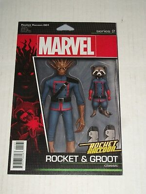 Rocket Raccoon #1 ACTION FIGURE VARIANT signed John Tyler Christopher NM