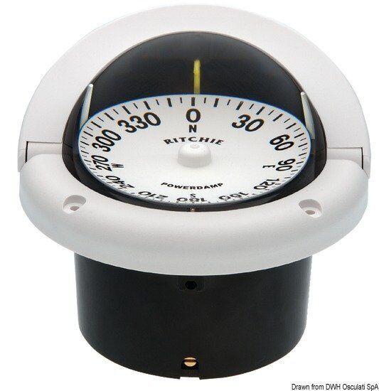 Kompass Ritchie weiß/b. Steuermann 33/4 vertieft weiß/b. Ritchie Marke Ritchie navigation 25 1204a8