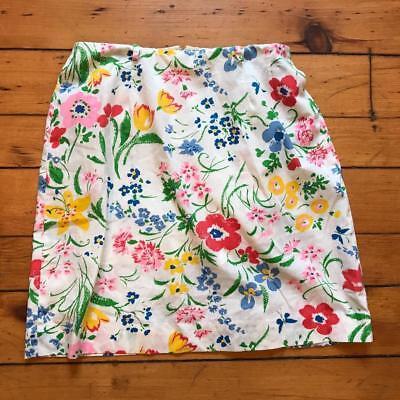 Aktiv Vintage Whimsicals Blumenmuster Baumwollrock Größe 32 X 21