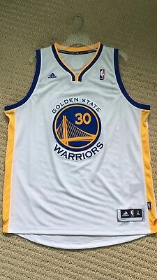 b64acad7ec9 NEW adidas Steph Curry Men s White Golden State Warriors Swingman Jersey