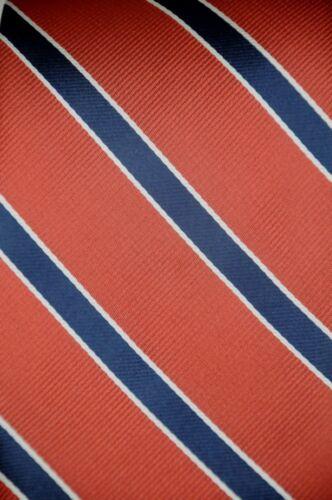 Lord R Colton Studio Tie  Blush Red /& Navy Striped Silk Necktie $95 Retail New