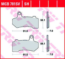 TRW MCB781SH Bremsbel/äge