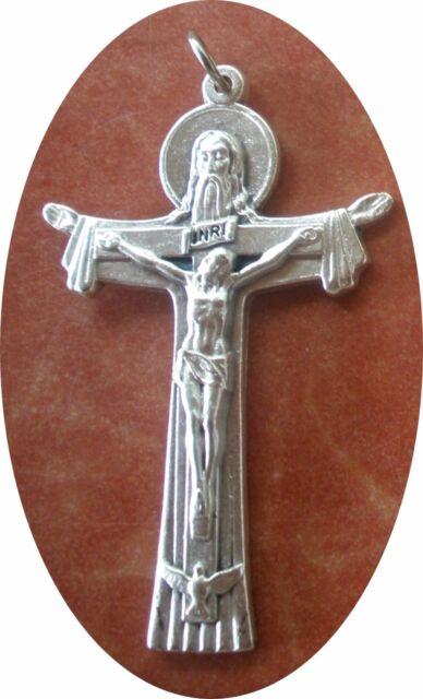 Trinity Crucifix Pendant 2 Father Son Holy Spirit On One Cross Ebay